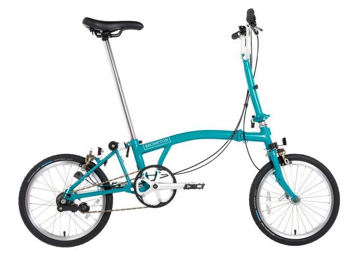 "Brompton B75 Folding Bike - Blue - 16"" Wheel"