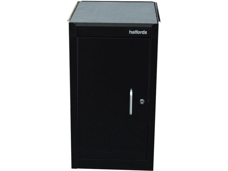 Halfords 1 Door 1 Shelf Side Cabinet - Black