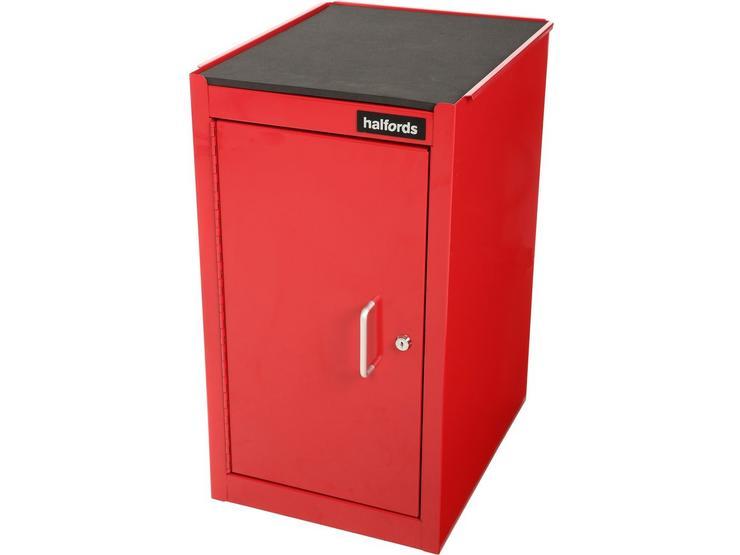 Halfords 1 Door 1 Shelf Side Cabinet - Red
