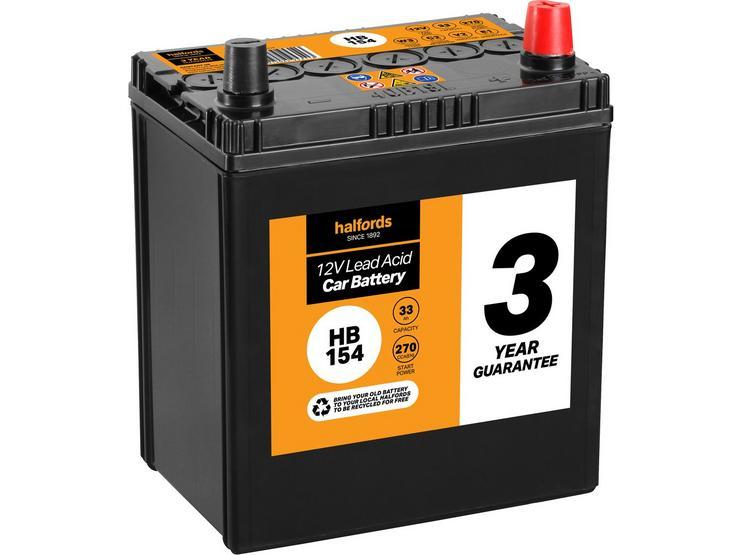 Halfords HB154 Lead Acid 12V Car Battery 3 Year Guarantee